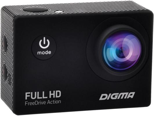 Видеорегистратор Digma FreeDrive Action Full HD черный 1.2Mpix 1080x1920 1080p 120гр. high cost performance waterproof action camera h2r h2 full hd 1080p 25fps wifi remote control sports camera