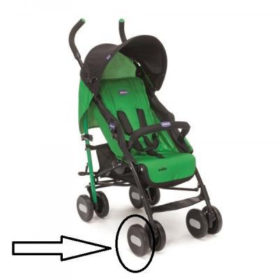 Колесо одинарное переднее к коляске Chicco Echo аксессуар canon eyecup eg for eos 7d 1d 1ds mark iii