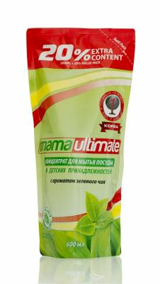 Концентрированное средство для мытья посуды Mama Ultimate Зеленый чай запасной блок 600 мл ultimate nutrition гейнер ultimate muscle juice revolution 2120 гр