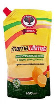 Концентрированное средство для мытья посуды Mama Ultimate Лимон запасной блок 1000 мл запаснойблокдляунитазалимон 40г 24штв упаковке snowter