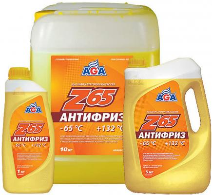 цены Антифриз готовый к применению -65С AGA AGA042Z желтый