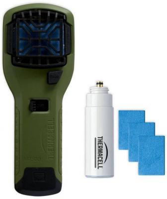 Прибор противомоскитный Thermacell MR-300 Repeller Olive (цвет оливковый, в комплекте: прибор + 1 газовый картридж + 3 пластины) ultrasonic pest repeller white ac 100 240v eu plug