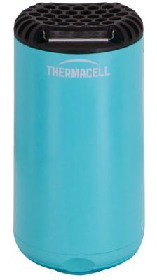 Лампа противомоскитная Thermacell Halo Mini Repeller Blue (цвет синий, в комплекте: лампа + 1 газовый картридж + 3 пластины) средство защиты от комаров thermacell halo mini repeller blue прибор 1 газовый картридж 3 пластины mr psb