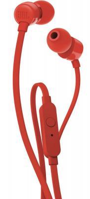 Наушники JBL Гарнитура T110, красная наушники jbl t110 blue