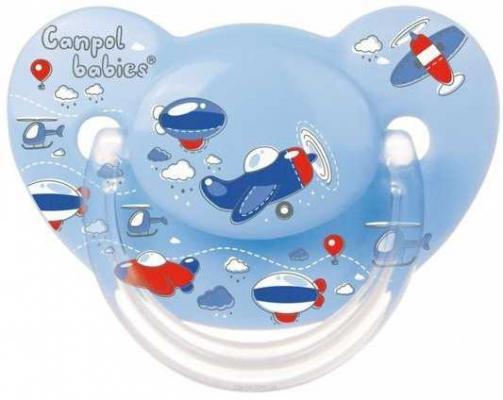 Купить Пустышка ортодонтическая Canpol Самолеты от 18 месяцев силикон голубой, для мальчика, Пустышки