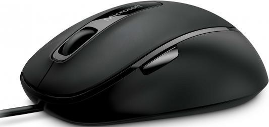 Мышь проводная Microsoft Comfort Mouse 4500 чёрный USB