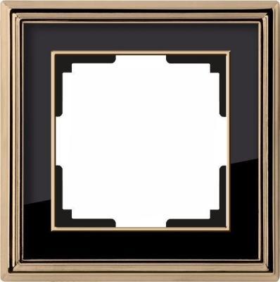 Рамка Palacio на 1 пост золото/черный WL17-Frame-01 4690389103582