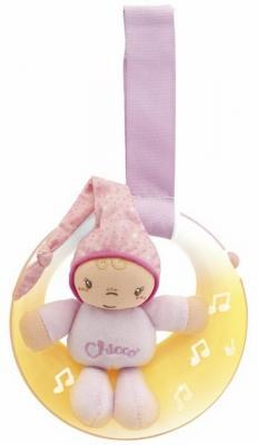 Интерактивная игрушка Chicco Луна, спокойной ночи! с рождения розовый интерактивная игрушка chicco музыкальная лейка от 6 месяцев разноцветный 07700