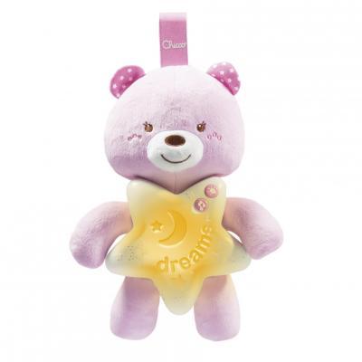 Интерактивная игрушка Chicco Медвежонок с рождения розовый интерактивная игрушка playgro пчелка с рождения