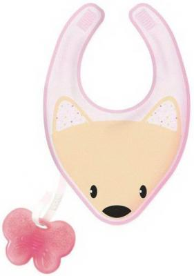 Нагрудник с прорезывателем Chicco Fresh 3-в-1, арт. 340624038, 4 мес+, розовый