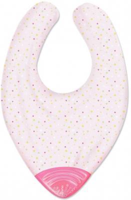 Нагрудник с прорезывателем Chicco Gummy 2-в-1, арт. 00002581100000, 2 мес+, розовый