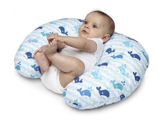 Подушка для кормления Chicco Boppy Blue Whales подушка для кормления