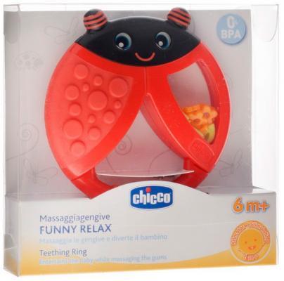 Купить Прорезыватель Chicco Funny Relax Божья коровка, с погремушкой, 6+, 310411101, разноцветный, пластик, силикон, унисекс, Прорезыватели