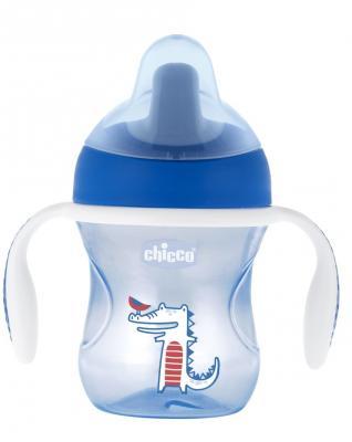 все цены на Поильник Chicco Training Cup (полужесткий носик), 1 шт., 6+, 200 мл, 00006921200050, синий