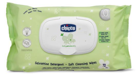Салфетки Chicco Baby Moments детские 72 шт детские туфли chicco