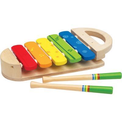 Фото - Деревянная игрушка Hape Ксилофон Радуга Е0302 hape ксилофон радуга