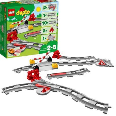 Конструктор LEGO Duplo: Рельсы и стрелки 16 элементов