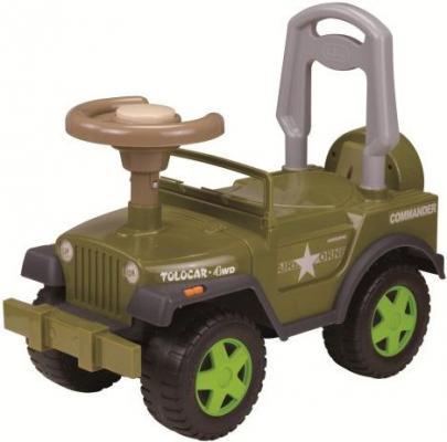 Каталка-машинка Наша Игрушка Шериф зеленый от 2 лет пластик LBL608BC/GR stellar игрушка каталка машинка цвет синий