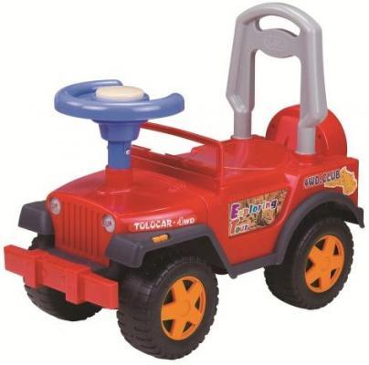цена Каталка-машинка Наша Игрушка Шериф красный от 2 лет пластик 611746