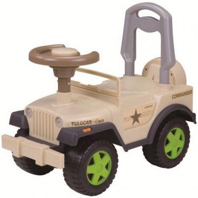 Каталка-машинка Наша Игрушка Шериф бежевый от 2 лет пластик 611747 stellar игрушка каталка машинка цвет синий