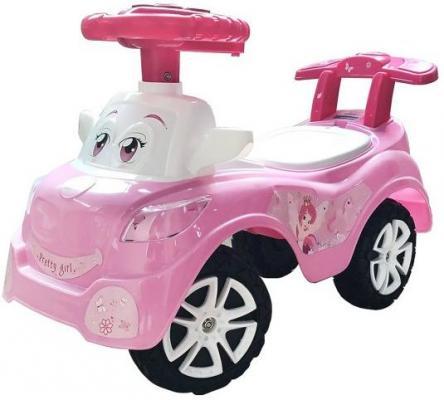 Каталка-машинка Наша Игрушка Дружок розовый от 2 лет пластик 611748 каталка на шнурке наша игрушка машина каталка авторалли пластик от 3 лет на колесах розовый q09 1 pink