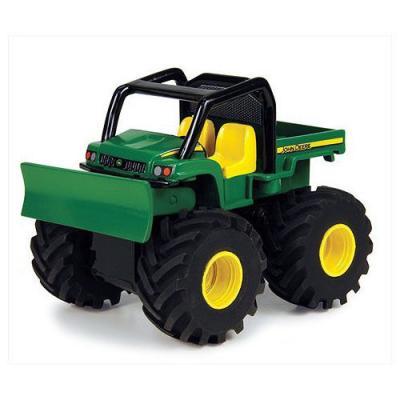 Будьдозер Tomy Monster Treads - Бульдозер зеленый 37650-3 машины tomy трактор john deere monster treads с большими резиновыми колесами