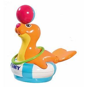 Игрушка для купания для ванны Tomy Морской котик Сэнди цена 2017