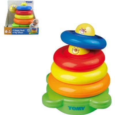 Веселая пирамидка Tomy машины tomy john deere трактор monster treads с большими колесами и вибрацией