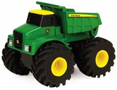 Самосвал Tomy Monster Treads - Самосвал зеленый 37650-1 машины tomy трактор john deere monster treads с большими резиновыми колесами