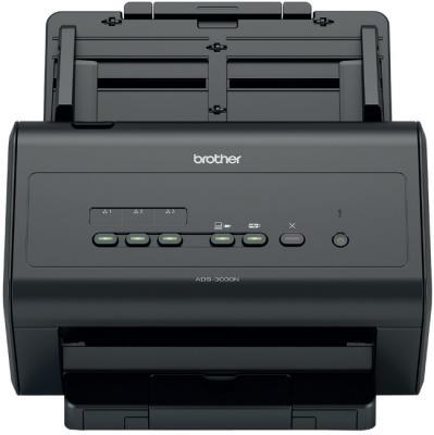 Сканер Brother ADS-3000N настольный, сетевой сканер brother ads1100w черный [ads1100wr1]
