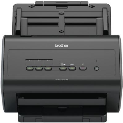 Сканер Brother ADS-2400N настольный, сетевой сканер brother ads1100w черный [ads1100wr1]