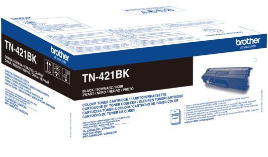 Тонер Brother Тонер-картридж TN-421BK черный (3000 стр.) для DCP-L8410CDW, HL-L8260CDW, HL-L8360CDW, MFC-L8690CDW, MFC-L8900CDW brother lc1220y yellow картридж для brother dcp j525w mfc j430w mfc j825dw