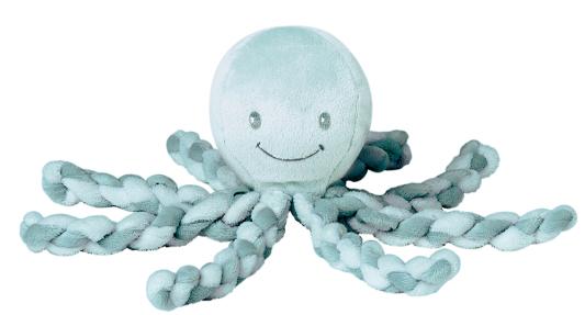 Мягкая игрушка осьминог Nattou Осьминог полиэстер плюш салатовый 23 см игрушка мягкая nattou jack jules nestor слоник мишка утенок 843225