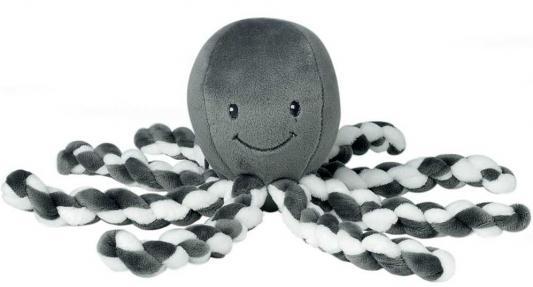 Мягкая игрушка осьминог Nattou Осьминог полиэстер плюш серый 23 см игрушка мягкая nattou jack jules nestor слоник мишка утенок 843225