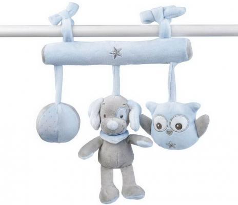 Мягкая игрушка на завязках Nattou Soft Toy Sam Toby Овечка и Собачка 604222 покрывало75х100см nattou supersoft sam toby овечка и собачка 604512