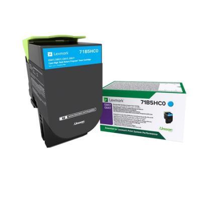 Картридж Lexmark 3500 стр. голубой для CS417dn, CS517de, CX417dn, CX517de compatible toner lexmark c930 c935 printer laser use for lexmark refill toner c940 c945 toner bulk toner powder for lexmark x940