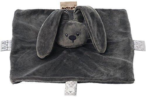 Купить Мягкая игрушка кролик Nattou Doudou Lapidou плюш темно серый 26 см, Животные