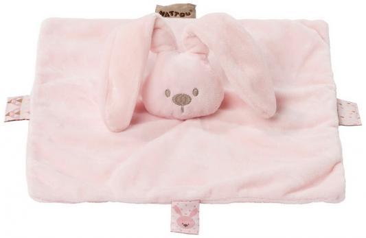 Мягкая игрушка кролик Nattou Doudou Lapidou полиэстер розовый 26 см игрушка мягкая nattou jack jules nestor слоник мишка утенок 843225