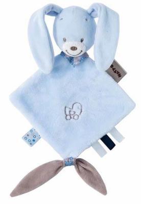 Купить Мягкая игрушка кролик Nattou Alex Bibou Doudou Кролик 15 см, разноцветный, Животные