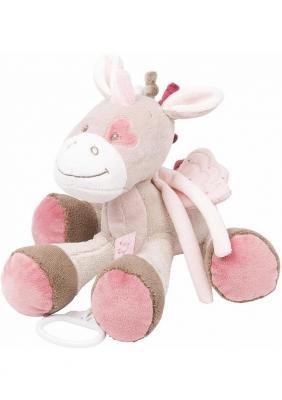 Интерактивная игрушка Nattou Soft Toy Nina, Jade & Lili Единорог от 6 месяцев розовый 987066 банка для сыпучих продуктов polystar collection хлеб 0 8 л