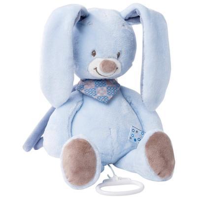 все цены на Интерактивная игрушка Nattou Soft Toy Alex&Bibou Кролик от 6 месяцев голубой 321044 онлайн