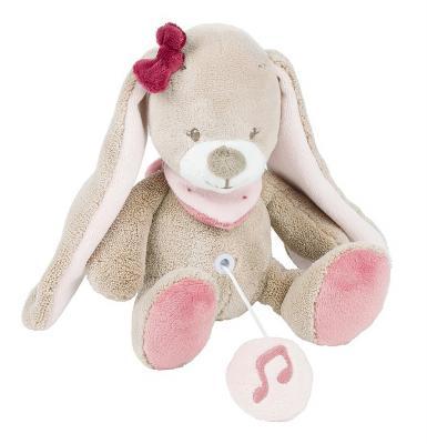 Интерактивная игрушка Nattou Soft Toy Mini Nina, Jade & Lili Кролик от 6 месяцев коричневый 987080 mini jade facial roller