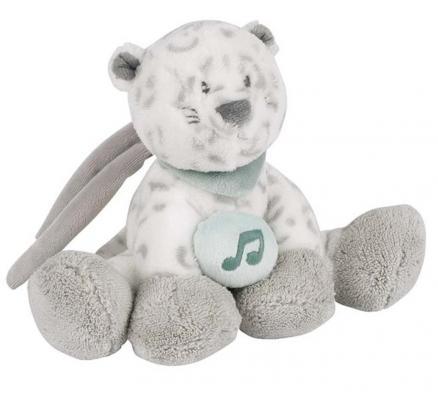 Купить Интерактивная игрушка Nattou Soft Toy Mini Loulou, Lea & Hippolyte Леопард от 6 месяцев серый 963084, 22 см, полиэстер, унисекс, Игрушки со звуком