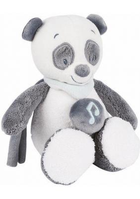 Интерактивная игрушка Nattou Soft Toy Mini Loulou, Lea & Hippolyte Панда от 6 месяцев серый/белый 963091