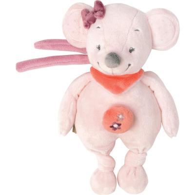 Интерактивная игрушка Nattou Soft Toy Mini Adele&Valentine Мышка от 6 месяцев розовый 424073