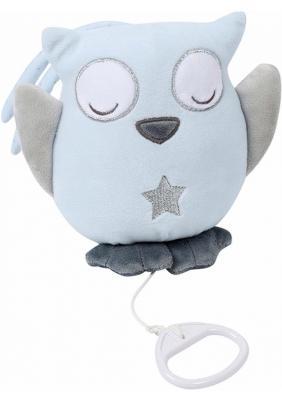 Купить Интерактивная игрушка Nattou Soft Toy Sam&Toby Сова от 6 месяцев голубой 604062, 35 см, полиэстер, унисекс, Игрушки со звуком