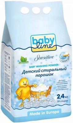 BABYLINE Sensitive Детский стиральный порошок 2,4 кг. babyline детский стиральный порошок концентрат 2 25 кг