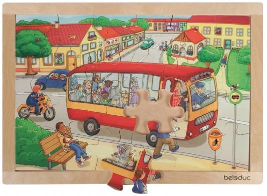Развивающий Пазл Городок beleduc развивающий пазл транспорт 3 детали
