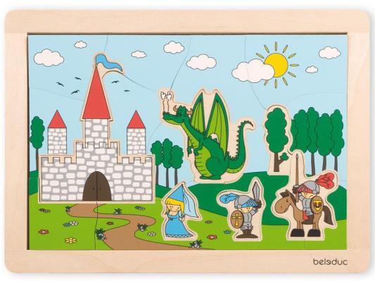 "Развивающий Пазл ""Замок"" beleduc развивающий пазл домики 4 детали"