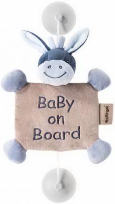 Знак автомобильный Nattou Baby on board Alex Bibou Ослик 321341